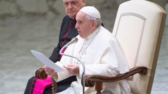 Paus dalam Audiensi Umum 12 Februari 2020 di Aula Paulus VI Vatikan (Vatican Media)