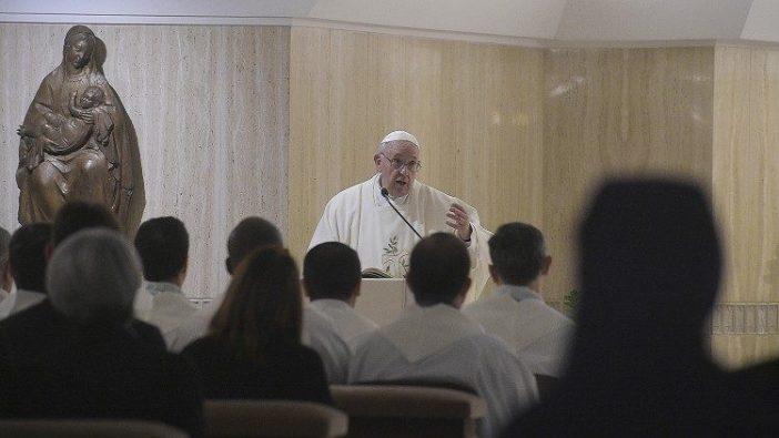 Paus Fransiskus dalam Misa di Casa Santa Marta 31 Januari 2020. (Vatican Media)