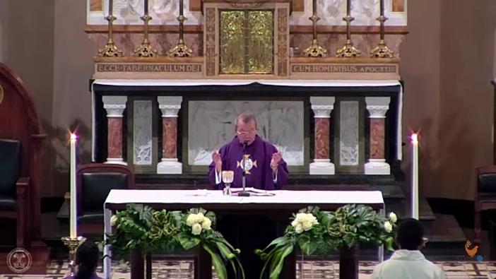 Siaran langsung Misa lewat Youtube di Katedral Bandung  21 Maret 2020
