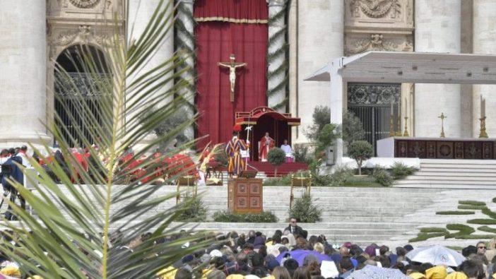 Perayaan Minggu Palma 14 April 2019 di Lapangan Santo Petrus  (Vatican Media)