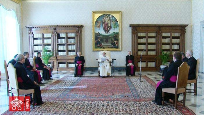 Paus dalam Audiensi Umum 11 Maret 2020 di Perpustakaan Apostolik