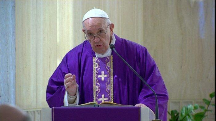 Paus dalam Misa di Casa Santa Marta 10 Maret 2020