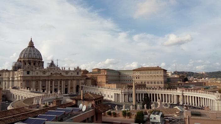 Vatikan terlihat dari Pusat Misi dan Formasi Internasional (CIAM) di Bukit Gianicolo (PEN@ Katolik/pcp)