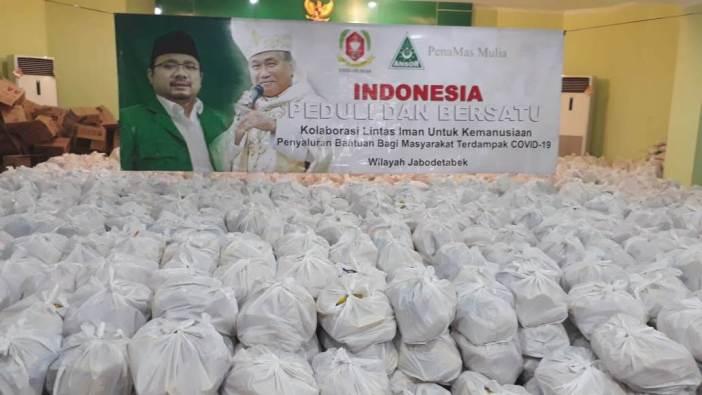 Paket sembako yang akan disalurkan ke Jabodetabek (Foto PenaMas)