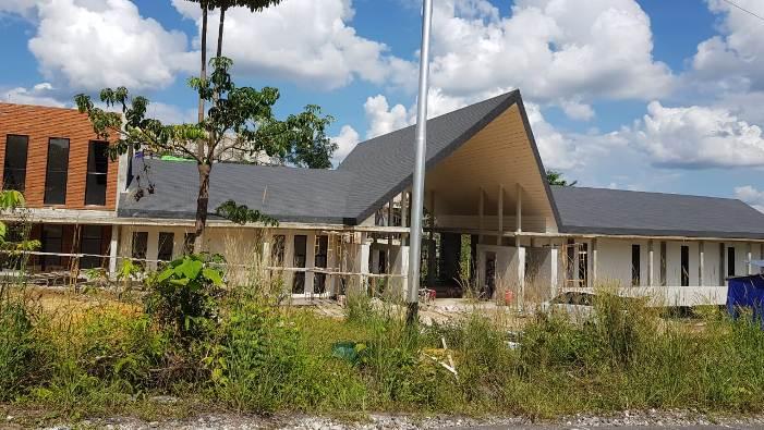 Gedung baru STKIP Pamane Talino sedang dalam pembangunan
