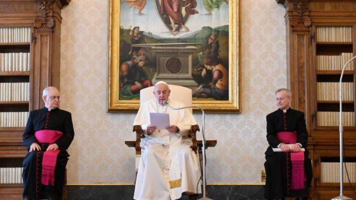 Paus Fransiskus dalam Audiensi Umum mingguan (Vatican Media)