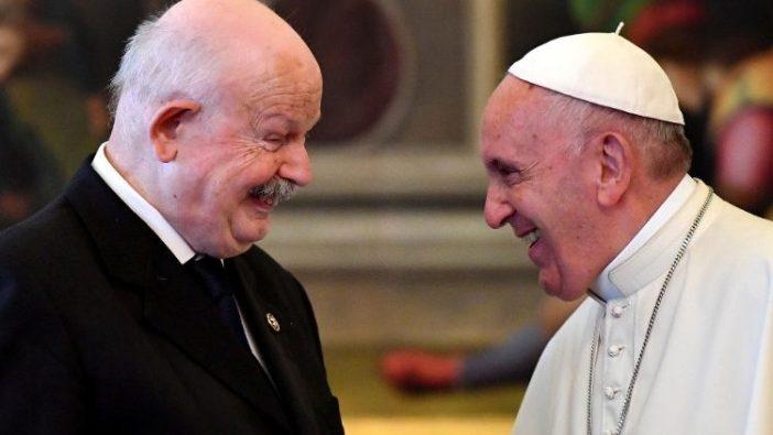 Paus Fransiskus bersama mendiang Fra Giacomo Dalla Torre del Tempio di Sanguinetto (AFP or licensors)