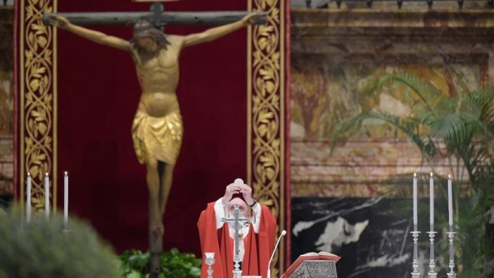 Saliob Ajaib menjadi latar belakang Misa Minggu Palma dan semua liturgi Pekan Suci 2020 (Vatican Media)