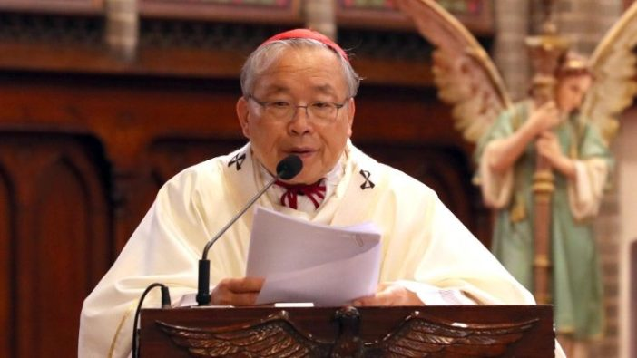 Uskup Agung Seoul, Kardinal Andrew Yeom Soo-jung dalam Misa di Katedral Myeongdong (ANSA)