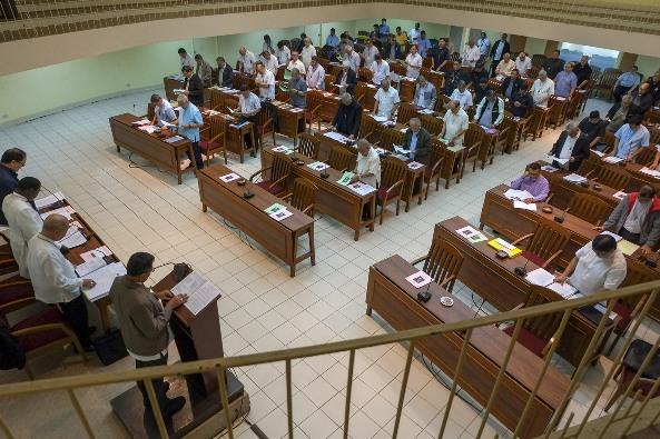 Para uskup berkumpul untuk sidang pleno ke-120 di Manila, 25 Januari 2020.