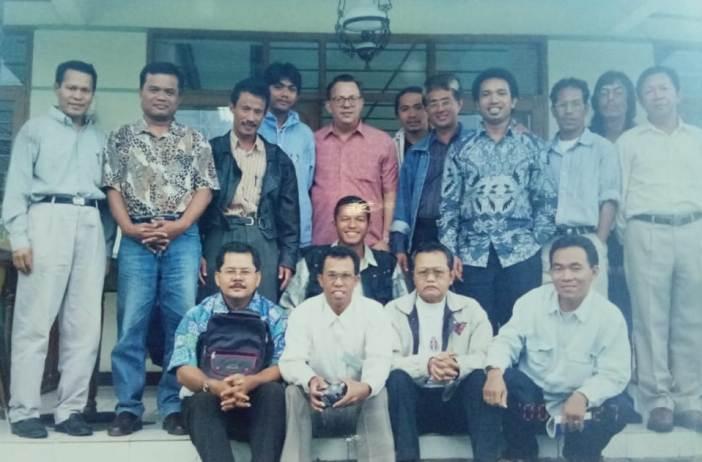 Wartawan dari berbagai keuskupan di Indonesia dalam sebuah pelatihan jurnalistik oleh Father Bob Astorino MM (foto pcp)