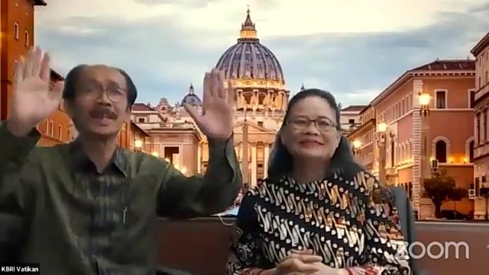 Dubes RI untuk Tahta Suci Agus Sriyono mohon pakit kepada rohaniwan-rohaniwati di Italia @ KBRI untuk Tahta Suci Vatikan