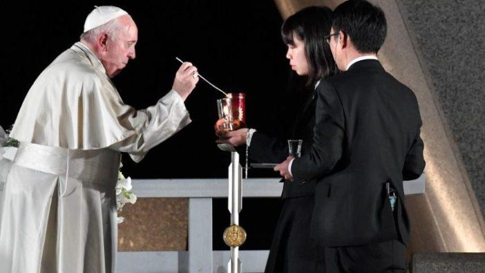 Paus Fransiskus di  Hiroshima, Pertemuan untuk Perdamaian, 24 November 2019 (Vatican Media)