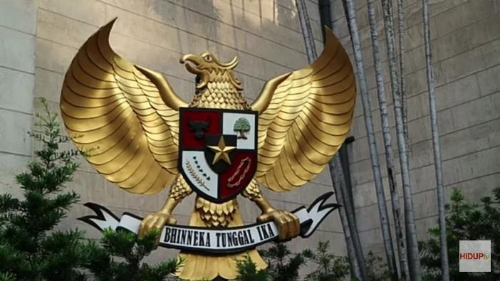 Garua Indonesia di sebelah Gereja katedral Jakarta
