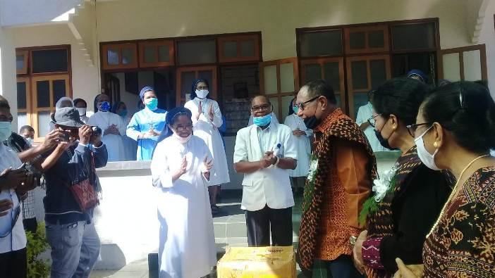 Kunjungan Wagub NTT ke Biara SSpS Kewapante Maumere (PEN@ Katolik/yf)