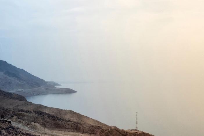 Pemandangan dari Perbukitan Tepi Barat di Machaerus pada siang hari berawan yang jarang terjadi (Jeffrey Bruno/Aleteia)