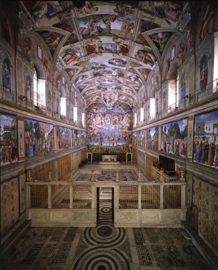 Lukisan-lukisan Michelangelo mengambil ruang seluas 11.840 kaki per segi