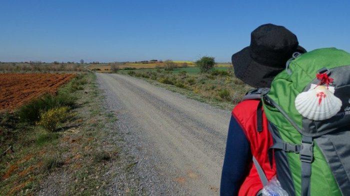 Alvaro Calvente dalam perjalanan ziarah. Foto Twitter @CaminodeAlvaro