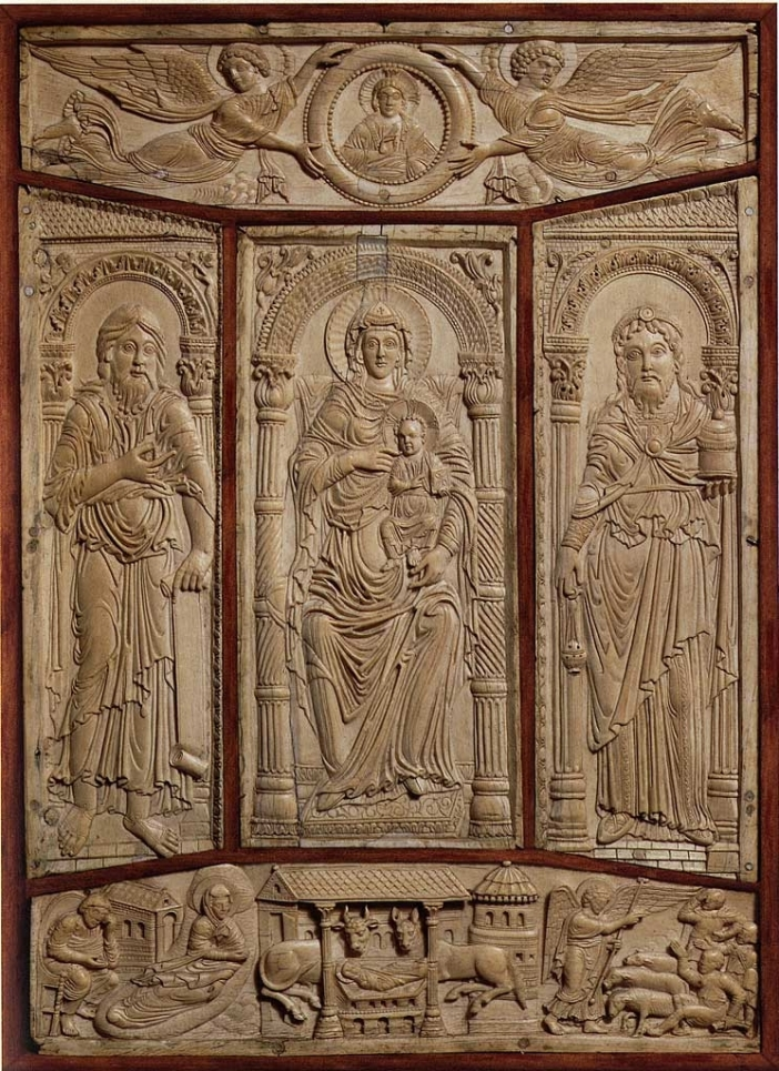 Sampul Injil , Jerman, abad VIII/IX