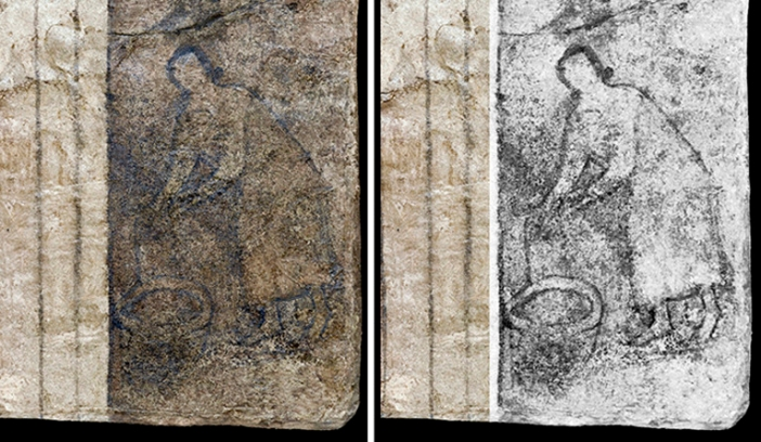 Dua gambar Perawan Maria yang tertua di  (Dura, Suriah, Abad kedua)