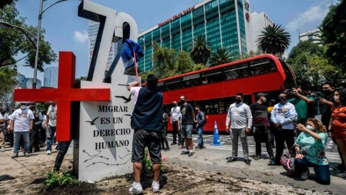 Para aktivis memperingati 10 tahun Pembantaian San Fernando (AFP)