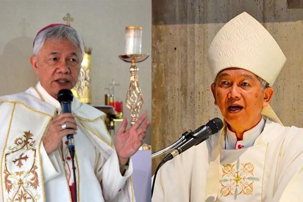 Uskup Patricio Buzon dan Uskup Broderick Pabillo. CBCPNEWS
