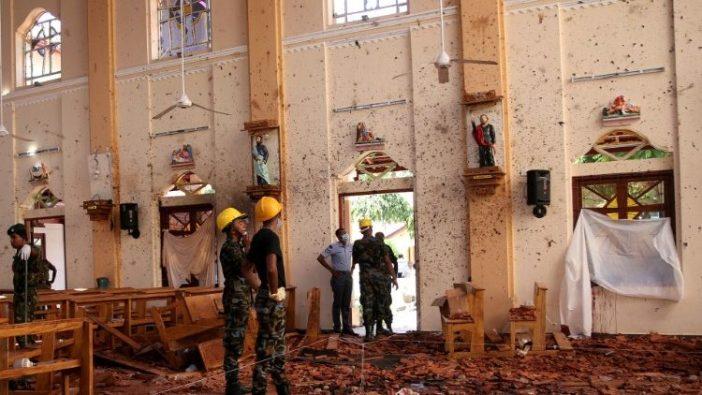 Gereja Santo Sebastianus, Negombo, di Sri Lanka, setelah serangan bom teroris 21 April 2019