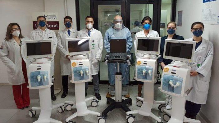 Peralatan medis sumbangan Paus Fransiskus tiba di Porto Alegre, Brasil, pekan lalu