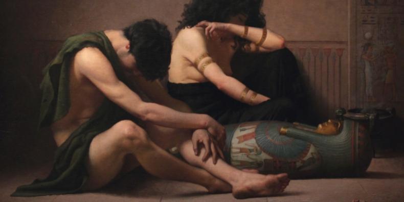 Ratapan atas Kematian Anak Sulung Mesir oleh Charles Sprague Pearce