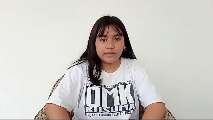 Jasmine Diana Martinu, juara Lomba Sharing Kitab Suci (PEN@ Katolik/screenhot)