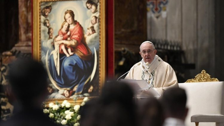 Paus Fransiskus berkotbah dalam Misa Hari Raya Tuhan Yesus Raja Semesta Alam