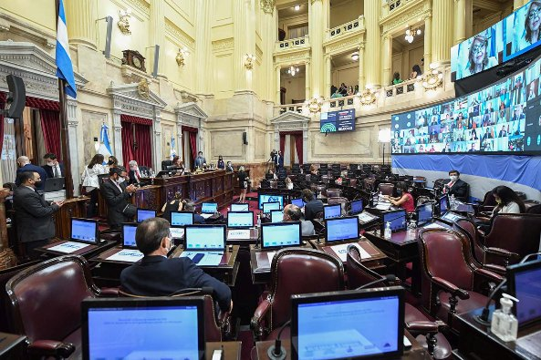 Argentina's Senate session on abortion bill in Buenos Aires, Argentina, Dec. 29, 2020. CHARLY DIAZ AZCUE SENADO ARGENTINA