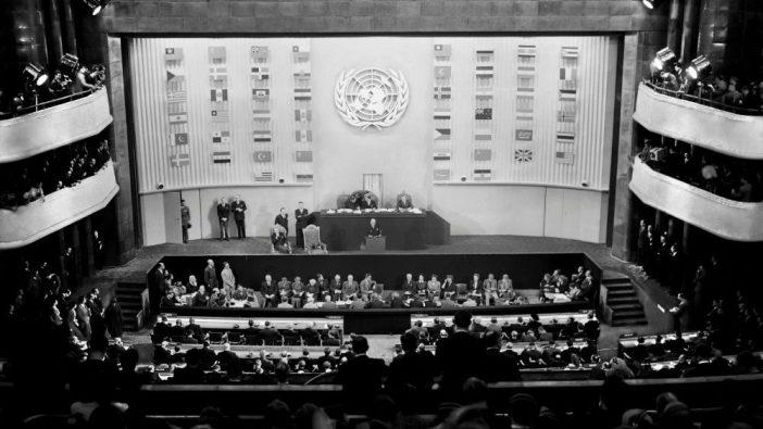 Tanggal 10 Desember 1948, Majelis Umum PBB mengadopsi Deklarasi Universal Hak Asasi Manusia,