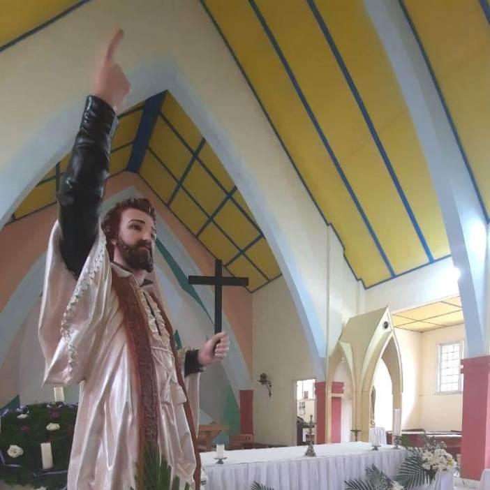 Patung Santo Fransiskus Xaverius di Seminari Santo Fransiskus Xaverius Kakaskasen, Tomohon  (Ist)