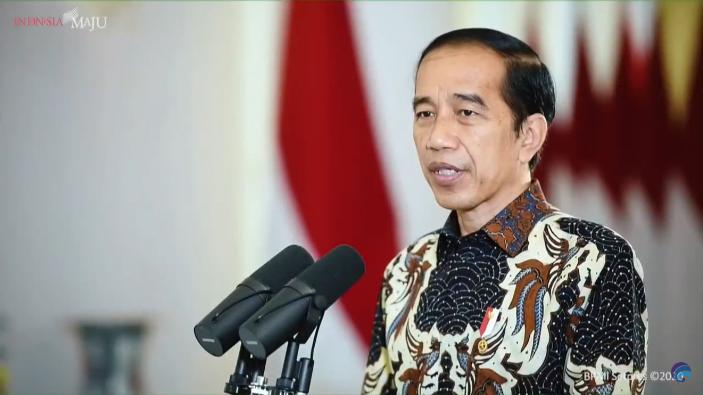 Presiden Jokowi memberi arahan dalam Perayaan Natal Nasional 2020