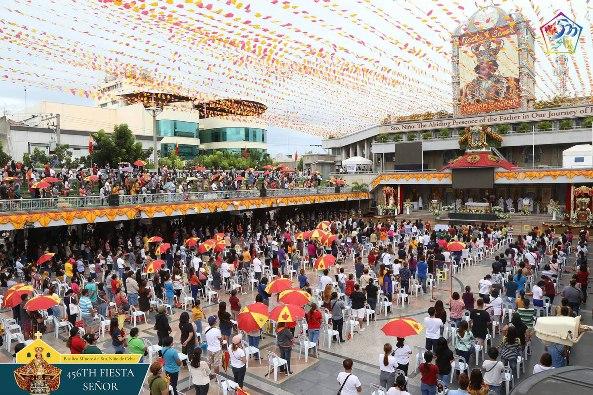Devosan menghadiri salah satu Misa novena yang diadakan di Basilika Minore del Santo Niño di Kota Cebu, 11 Januari 2021. (courtesy of BMSN CEBU)