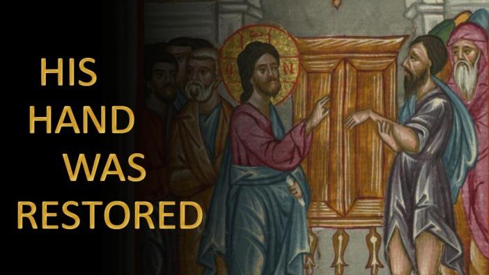 Yesus menyembuhkan tangannya