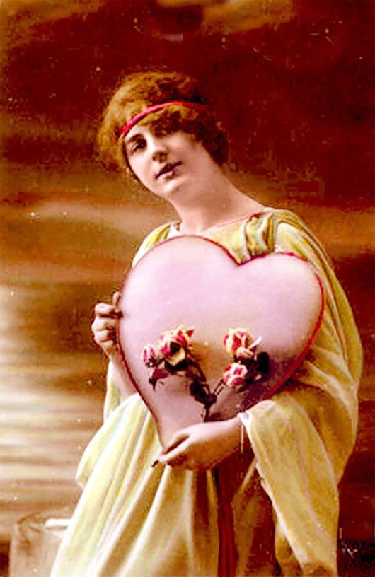 sebuah kartu valentine's Day dari 1910