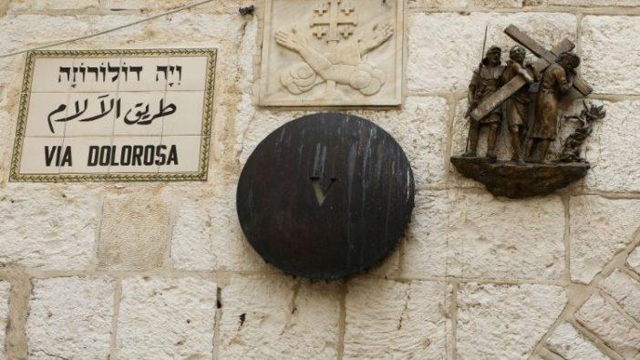 Satu Stasi Jalan Salib sepanjang Via Dolorosa, Yerusalem