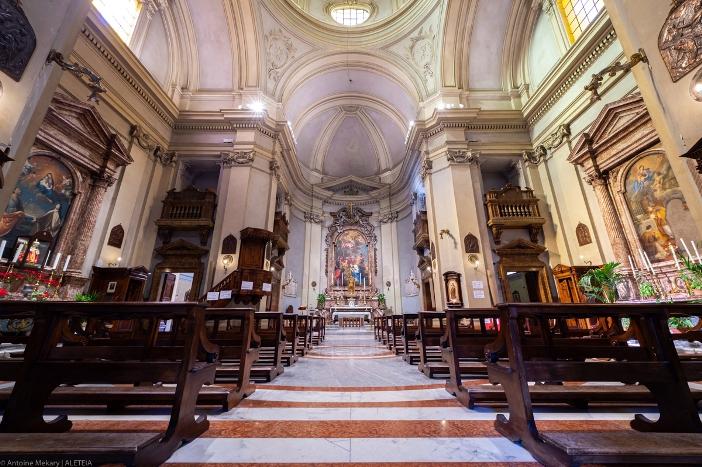 Interior Basilika Santo Marselinus dan Santo Petrus - Basilika Santo Marselinus dan Santo Petrus adalah milik Kementerian Dalam Negeri Italia. © Antoine Mekary | ALETEIA