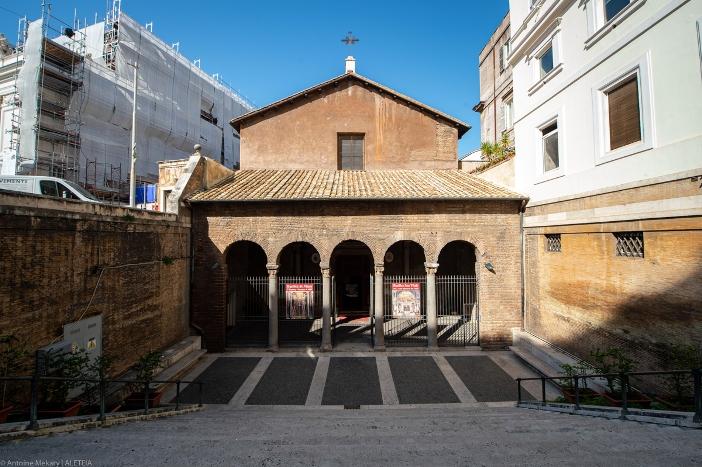 Basilika Santo Vitalis di Fovea (eksterior). Fondasinya berasal dari abad ke-4. Basilika Santo Vitalis di Fovea adalah milik Kementerian Dalam Negeri Italia. © Antoine Mekary | ALETEIA