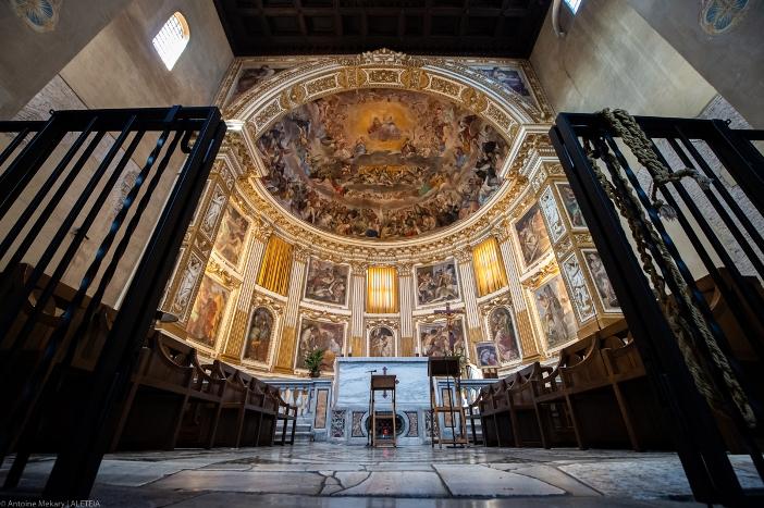 Basilika Santi Quattro Coronati (apse). Kompleks ini berada di bawah perawatan para biarawati Agustinian. © Antoine Mekary | ALETEIA