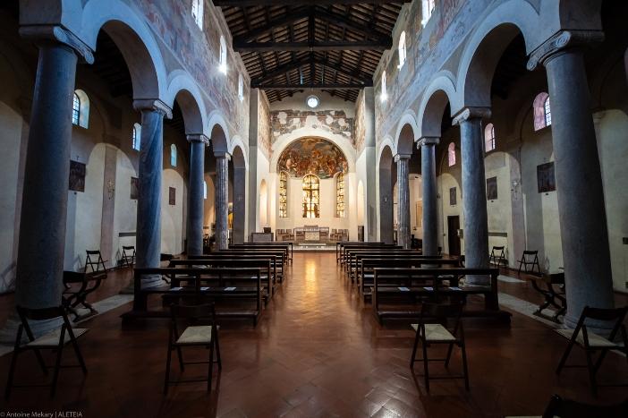 Gereja tersebut telah mengalami berbagai restorasi dan renovasi dan diresmikan kembali oleh Celestine III pada tahun 1191. © Antoine Mekary   ALETEIA