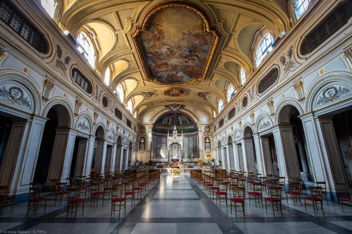 Bagian dalam basilika Santa Cecilia di Trastevere © Antoine Mekary | ALETEIA