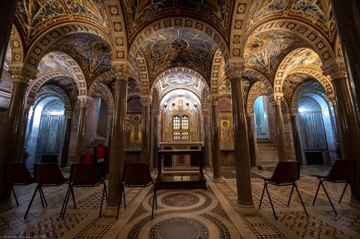 Ruang bawah tanah Basilika Santa Cecilia di Trastevere © Antoine Mekary | ALETEIA