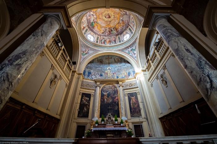 Basilika Santa Pudensiana dari Viminale (apse). Basilika Santa Pudensiana dari Viminale adalah milik Kementerian Dalam Negeri Italia. © Antoine Mekary | ALETEIA