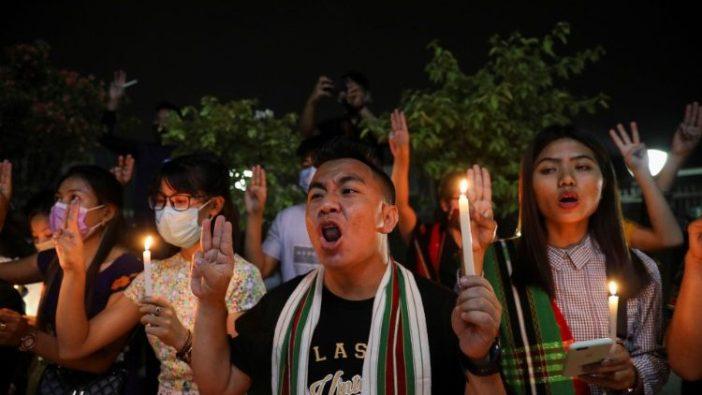 Demonstrasi orang Myanmar di luar negeri