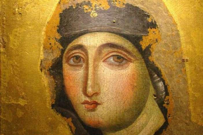 Ikon Maria Advocata di Gereja Dominikan Santa Maria del Rosario di Monte Mario. Kredit foto: Paul Badde.