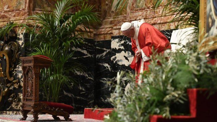 Misa Minggu Palma di Basilika Santo Petrus 2