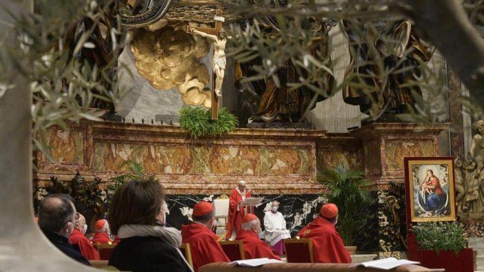 Misa Minggu Palma di Basilika Santo Petrus 4